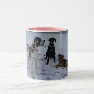 Deutsche Dogge, Great Dane,Hunde,Weihnachten Kaffee Tasse