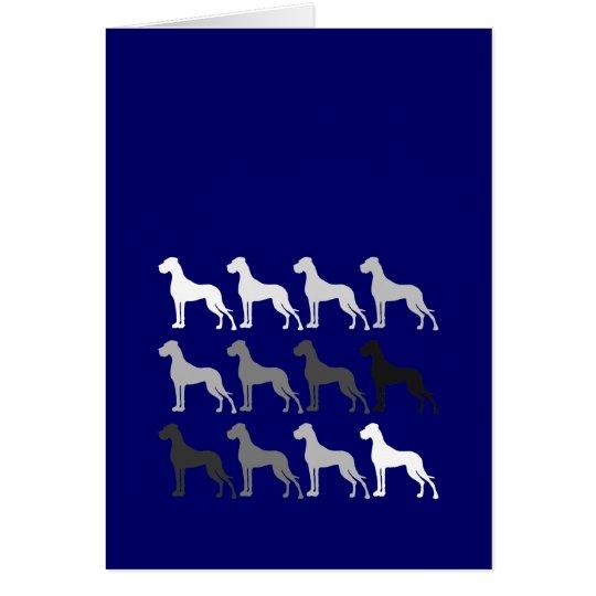 Deutsche Doggen Grußkarte
