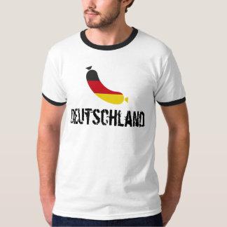 Deutsche Flagge in einer Wurst, der deutsche Wurst T-Shirt