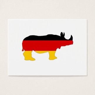 Deutsche Flagge - Nashorn Visitenkarte