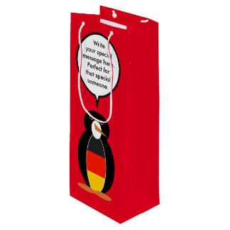 Deutsche Flaggen-sprechenPinguin Geschenktüte Für Weinflaschen