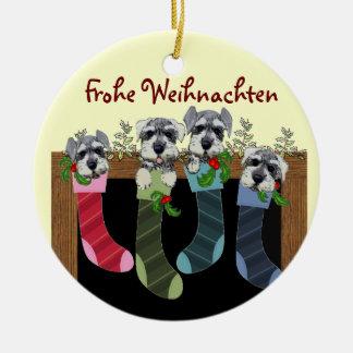 Deutsche frohe Weihnacht-Verzierung Rundes Keramik Ornament