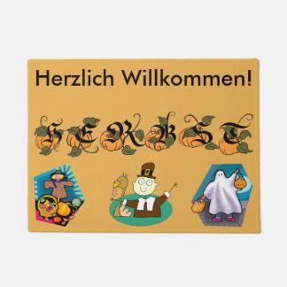 Deutsche Fußmatte des Fall-(Herbst) Türmatte