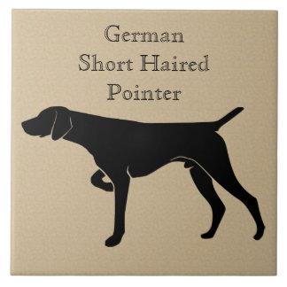 Deutsche kurzhaariger Zeiger-HundeSilhouette Keramikfliese