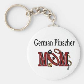 Deutsche Pinscher MAMMA Geschenke Standard Runder Schlüsselanhänger