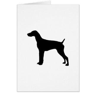 Deutsche Silhouette Hund des kurzhaarigen Zeigers Karte