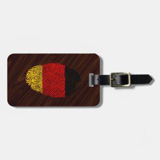 Deutsche Touchfingerabdruckflagge Kofferanhänger