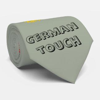 Deutsche Touchfingerabdruckflagge Krawatte