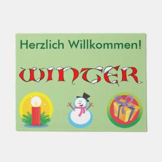 Deutsche Winter-Fußmatte Türmatte