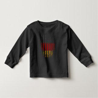 Deutscher Flagge-Schmutz Kleinkinder T-shirt