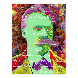 Deutscher Philosoph Friedrich Nietzche Existenz Postkarte