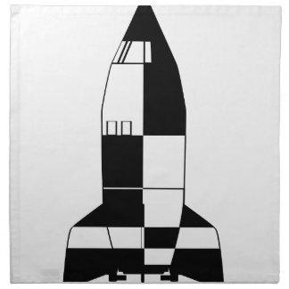 Deutscher Rocket-Cartoon des V2 Weltkrieg-2 Stoffserviette