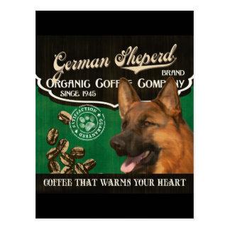 Deutscher Sheperd Marke - Organic Coffee Company Postkarte