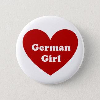 Deutsches Mädchen Runder Button 5,7 Cm