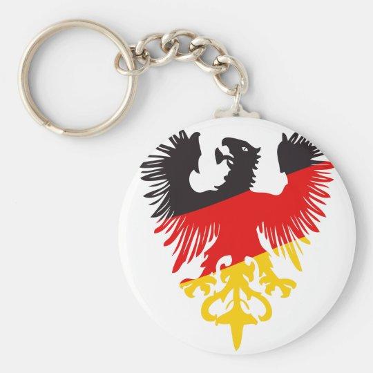 Deutsches schwarzes Eagle Standard Runder Schlüsselanhänger