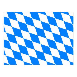 Deutschland-Bayern-Flagge Postkarte