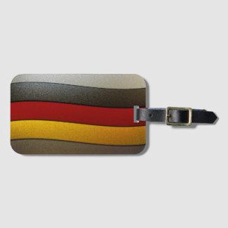 Deutschland-Flagge Farbe-Chrom durch Shirley Gepäckanhänger