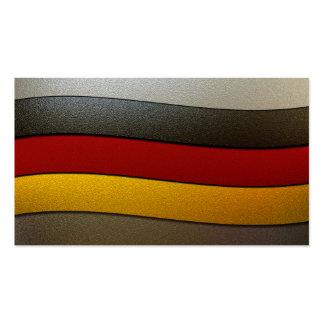 Deutschland-Flagge Farbe-Chrom Visitenkarte