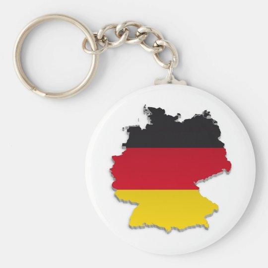 Deutschland-Flagge Map_2 Standard Runder Schlüsselanhänger