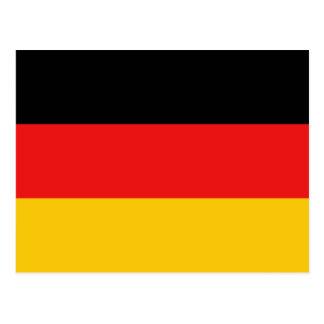 Deutschland-Flaggen-Postkarte Postkarte