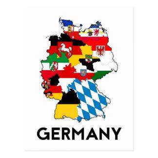 Deutschland-Flaggenkarte Postkarte