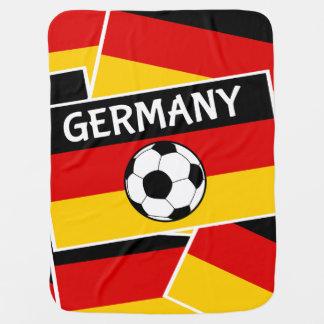 Deutschland-Fußball-Fußball-Flagge Kinderwagendecke