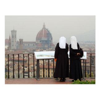 Deux nonnes, Florence, Italie Cartes Postales