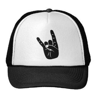 Devil Horns sign language pictogram for rock music Kultmütze