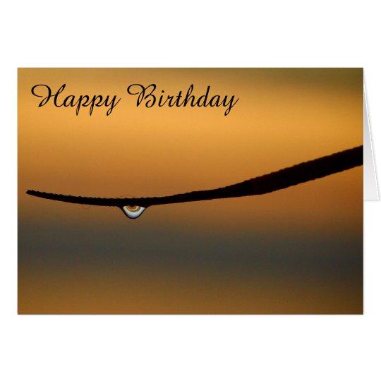 Dewdrop an der Sonnenaufgangraum-Geburtstagskarte Grußkarte