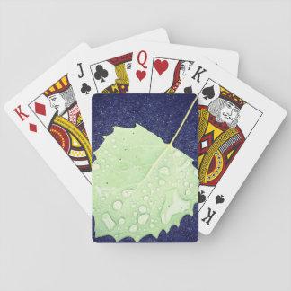Dewy Blatt-themenorientierte Spielkarten