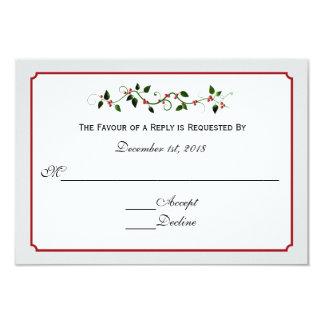 Dezember-Feiertags-Hochzeits-Warte-UAWG Karte