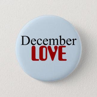 Dezember-Liebe-Knopf Runder Button 5,7 Cm