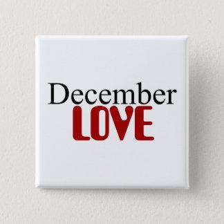 Dezember-Liebe Quadratischer Button 5,1 Cm