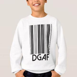 DGAF Barcode Sweatshirt