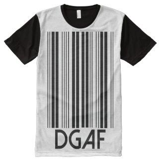 DGAF Barcode T-Shirt Mit Komplett Bedruckbarer Vorderseite