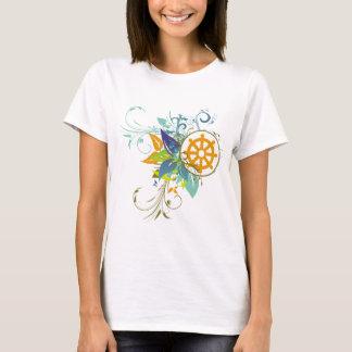 Dharma Rad mit Blumen T-Shirt