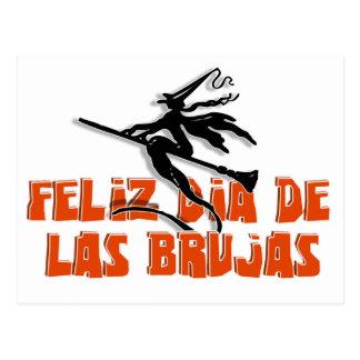 Dia de Las Brujas Postkarte