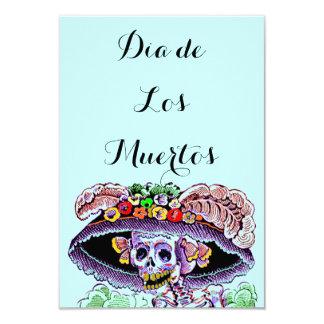 Dia de Los Muertos Day des toten Catrina lädt ein 8,9 X 12,7 Cm Einladungskarte