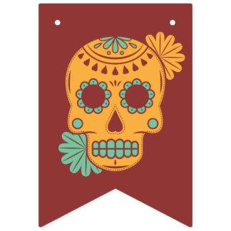 Dia De Los Muertos. Tag der Toten. Zuckerschädel Wimpelketten