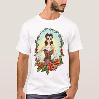 Día de Muertos Day der toten Vintagen tatto Dame T-Shirt