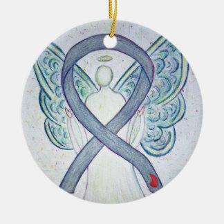 Diabetes Awareness Ribbon Angel Custom Ornament