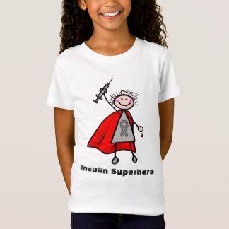 Diabetes-Insulin-Superheld-Mädchen T-Shirt