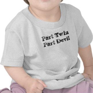 Diable jumeau de pièce de partie t-shirts