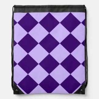 Diag kariertes Groß-Licht violettes und dunkles Turnbeutel