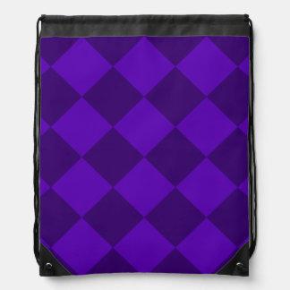 Diag kariertes großes - violettes und dunkles turnbeutel