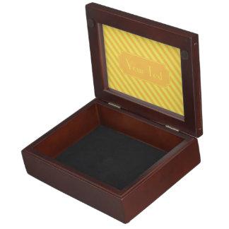Diagonale gelb-orangee Streifen Erinnerungsdose