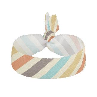 Diagonale Stripes das 4 Retro Farbblaue gelbe Rot Haarschleife