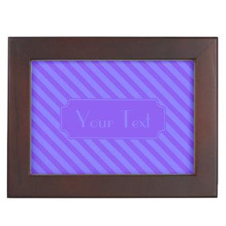 Diagonale violette lila Streifen Erinnerungsdose
