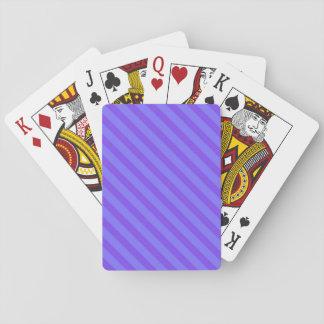 Diagonale violette lila Streifen Pokerkarten
