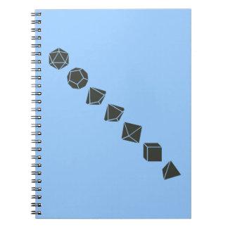 Diagonale Würfel (dunkel) Notizbücher